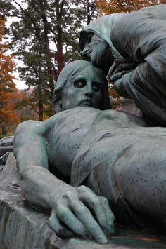 Green Mount Cemetery, Vermont. An old cemetery packed with interesting monuments. #creepy