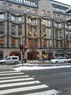 Stockholm, Sweden NK Nordiska Kompaniet,  my favorite in Stockholm