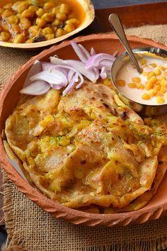 Naan Recipe (Aloo Pyaz Dhaba Style) - Savory Bites Recipes - May 04 2019 at Aloo Recipes, Paratha Recipes, Recipies, Indian Veg Recipes, Indian Snacks, Indian Foods, Irish Recipes, Vegetarian Cooking, Cooking Recipes