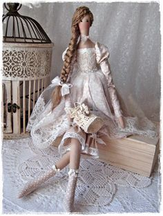 RESERVED for CHANTAL Tilda doll with handbag