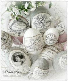 Vintage advertising label eggs - Ostern - Home Sweet Home Egg Crafts, Easter Crafts, Diy And Crafts, Easter Decor, Happy Easter, Easter Bunny, Easter Eggs, Easter Projects, Craft Projects