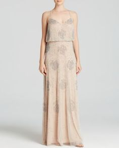 Adrianna Papell Floral Motif Beaded Blouson Gown - now $208.80 - Bloomingdale's Exclusive | Bloomingdale's