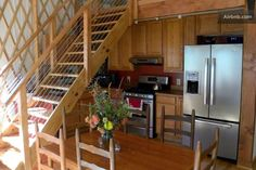 Cair Paravel Enterprises: Yurt For Rent! Yurt Living, Tiny Living, Yurt Interior, Interior Ideas, Yurt Home, Cair Paravel, Silo House, Tiny House Movement, Tiny Spaces