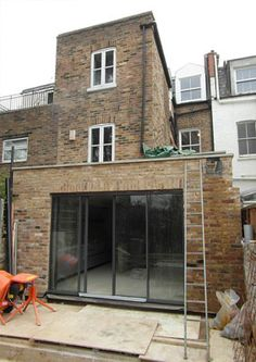 The kind of kitchen extension I'm looking for Kitchen Extension Renovation, Home Renovation, Windows And Doors, Black Windows, Architects London, House Extensions, Residential Architecture, Ground Floor, Brighton