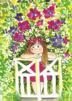 """ (The Secret Garden) Virpì Pekkala Mary Engelbreit, Painting For Kids, Art For Kids, Children Painting, Karla Gerard, Whimsical Art, Book Illustration, Cute Art, Cute Pictures"