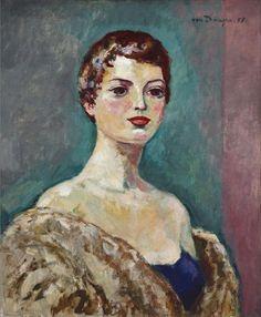 Kees van Dongen - Portrait de Femme, 1955