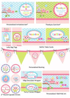 Owl Ballloon Party Printable Pack