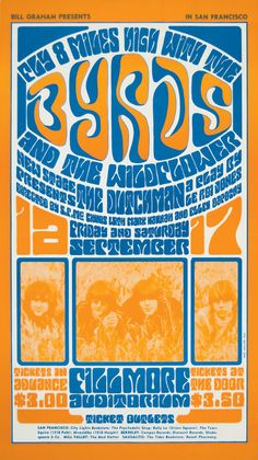 The Byrds at the Fillmore poster