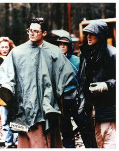 Kyle Maclachlan & David Lynch filming Twin Peaks