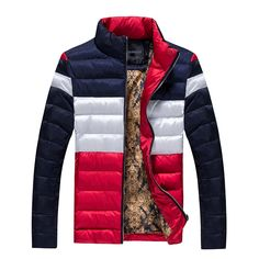 Men Jacket And Coats Winter Warm Snow Thick Cotton Overcoats Brand Male Stand Collar Plus Size Casual Down Parka SL-M009