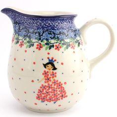 $31.99 Creamer 14.8 oz (0.42 L) Princess Slavica Polish Pottery slavicapottery.com