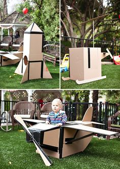 Cardboard rocketship.  Made it today during naptime for C and B.  Turned out pretty good.  They are going to LOVE it.