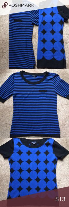 2 Short sleeve blue Gap tops 2 short sleeve blue Gap tops in size Medium. Both 100% cotton. Perfect for work this summer! Lightweight sweater material. In great preowned condition. GAP Tops