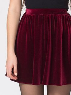 American Apparel Velvet Full Woven Skirt.Could be cute with combat boots and tights.