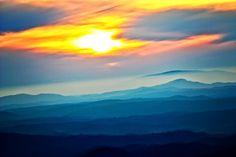 Sunset from the Cherohala Skyway.  Tellico Plains, TN