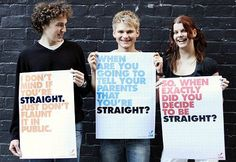 The posters they are holding say it all... And yes unfortunately we still need to fight for gay rights and acceptance...