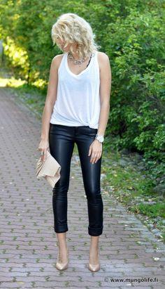 love love LOVE the cuffed leather pants