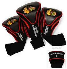 Bring your pro hockey team pride to the fairway with these NHL Golf Club Headcovers. Stylish, contoured team-logo golf club headcovers are designed to protect your club heads and include nylon socks to help protect shafts from damage, too. Ladies Golf Clubs, Best Golf Clubs, Nhl Chicago, Chicago Blackhawks, Golf Club Headcovers, Golf Head Covers, Golf Club Sets, Golf Stores, Perfect Golf