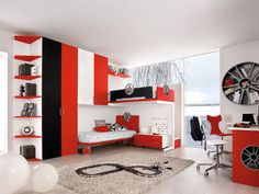 Image result for red bedrooms for boys