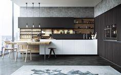 black white amp wood kitchens ideas inspiration kitchen interior designers design modular