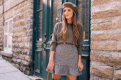 Ruffled Plaid Mini Skirt