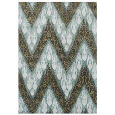 Handmade Ikat Pattern Forest Green Blend Wool Area Rug (9' x 12')
