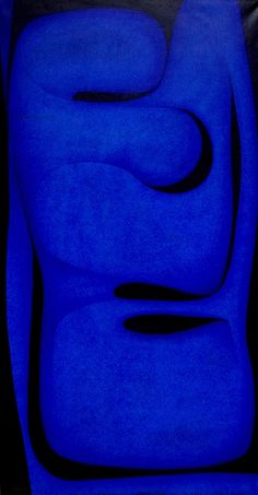 Seymour Fogel 'Transcendental Blue' 1974