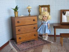 Vintage Doll Furniture   Hall's Three Drawer Dresser by TheToyBox
