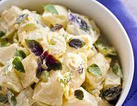 Salada de Batata com Mix de Manjericão (vegana)