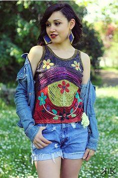 Maiou sau tricou de femei din bumbac handmade in Nepal. Cadou original femei