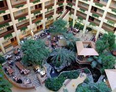 Embassy Suites Chicago - North Shore/Deerfield Hotel, IL - Hotel Atrium & Koi Pond 1445 Lake Cook Road, Deerfield, Illinois, 60015, USA