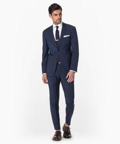 Navy Stripe Mayfair Fit Suit
