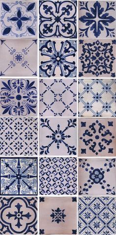 Our complete line of custom hand painted blue and white crackle tile. #blueandwhite #kitchentile #bathroomtile #handpaintedtile