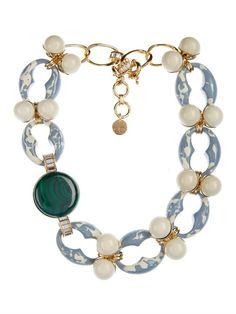 Valentina Brugnatelli Marilyn Swarovski & malachite necklace