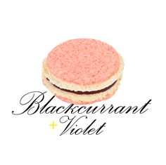 When eating a flower is just so yummy and pretty! Blackcurrant and violet macaron. #yannpins