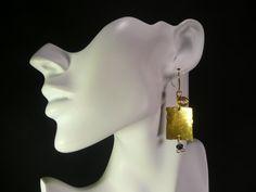 Hammered Brass Earrings by sharronwesteren on Etsy, $20.00