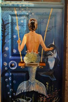 Thanks to my gorgeous niece Rachael for this amazing mermaid door photo taken in Maderia  XX
