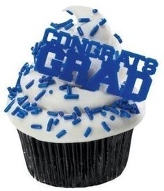 Blue Congrats Grad Cupcake Picks 24Pack * Details can be found by clicking on the affiliate link Amazon.com.