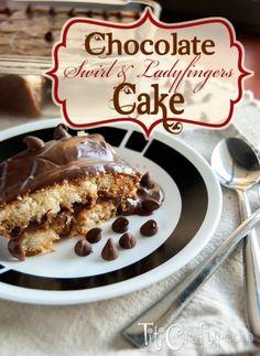 Chocolate-Swirl-and-Ladyfingers-Cake-Recipe shared at Katherines Corner