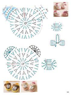 80 Patrones para hacer zapatitos, botines y zapatillas de bebés en crochet (free patterns crochet sandals babies – Salvabrani – BuzzTMZ Marque-pages Au Crochet, Crochet Amigurumi, Crochet Fabric, Crochet Motifs, Crochet Chart, Crochet Stitches Patterns, Crochet Diagram, Baby Knitting Patterns, Crochet Flowers