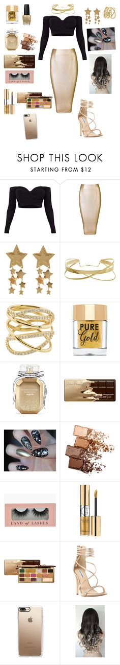 """""""Gold beauty"""" by glitterqueenz ❤ liked on Polyvore featuring Lana, Too Faced Cosmetics, OPI, Victoria's Secret, Maybelline, Steve Madden, Casetify and GoldBeauty"""