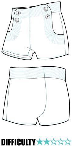 RP016 shorts pattern