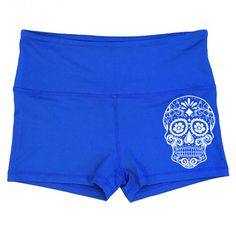 Sugar Skull Shorts - Sugar Skull Shorts - Gym and running shorts for working out and lifting.  Badass designs for girls who love fitness!