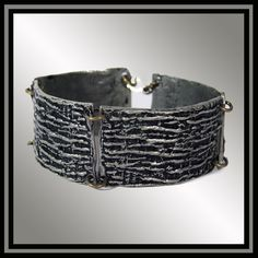 Brutalist Jewelry Bracelet Pewter Link Bracelet 1970s Robert Larin
