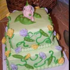 #sweet pea baby shower cake  By: Cakes by Catherine
