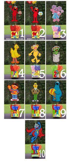"DIY small 12"" Sesame Street Birthday Party Centerpieces Centerpiece baby shower 1st birthday elmo. $10.00, via Etsy."