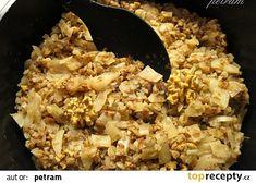 Pohanka se zelím a ořechy recept - TopRecepty.cz Snack Recipes, Snacks, Grains, Rice, Food, Appetizer Recipes, Appetizers, Meal, Essen