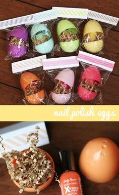 Nail polish easter eggs..what a fun gift idea for girlfriends!