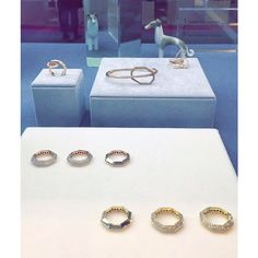 """""""The finest selection of our namesake #creations on display at the Trendvision showcase at the 2015 @vicenzaoro Jewelry Show #octium #finejewelry…"""""""