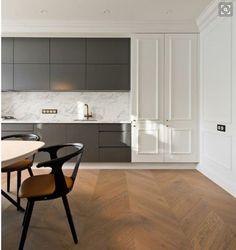 Ideal minimalistic modern kitchen in classic interior #Modernkitchenminimalist